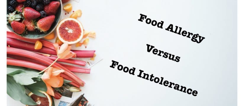 Food Allergy V Intolerance